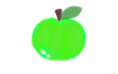 Green Apple by FaerieKitteh