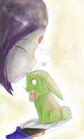 Smooch by MidnightAvatArtist8