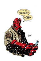 Hellboy Color by LostonWallace
