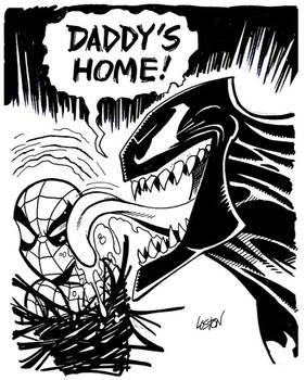 Spider-Man and Venom Sketch by LostonWallace