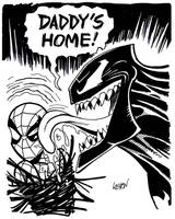 Spider-Man and Venom Sketch by LostonWallace