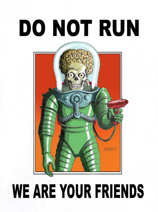 Mars Attacks Poster by LostonWallace