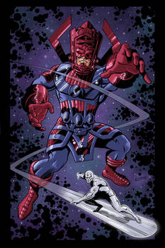 Galactus and Surfer Color by LostonWallace