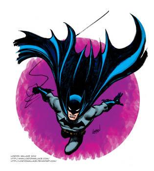 Batman Sketch in Color by LostonWallace