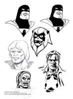 sketches: Space Ghost Thundarr Ookla Sgt Zero by LostonWallace