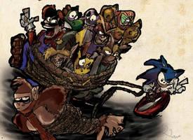 Sonic Pwns Them All by DaveTheSodaGuy