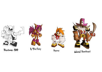 Rayman 2 Characters (wip) by DaveTheSodaGuy