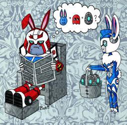 Eggsident by bunnybot