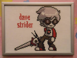 Dave Strider Cross Stitch by imacrazytrekkie