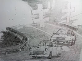 Touge Battle in Municiberg (1957) by Doriftu13