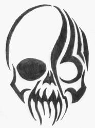 tribal skull by xXbytemeXx