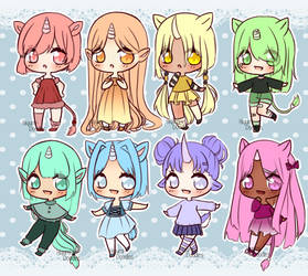 [A] Rainbow Unicorn Adopts (Open 7/8) by Hiyumi-Doodles