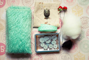 Complete Green Mohair Kit for a Chubby Bunny by ShadowedPorcelain