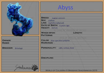 Mount Registration - Abyss by ArcticNomad