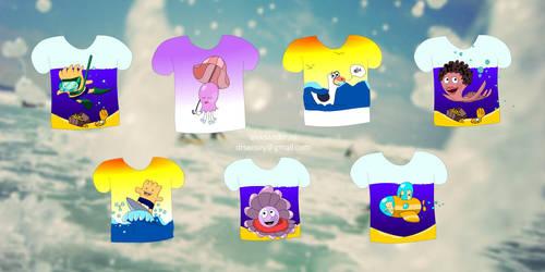 Sea Kids T-shirts by DrSensey