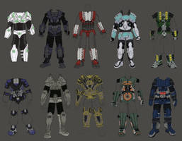 Body Armour Designs by MattRIllustration