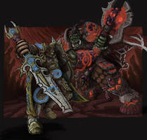 Warcraft: Orcs vs Human by MattRIllustration