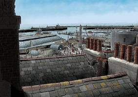 Ramsgate Harbour Below by MattRIllustration