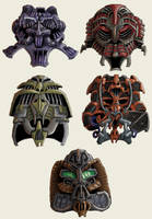Helmet Designs 00 by MattRIllustration