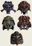 Helmet Designs 00 by MattRIllustration