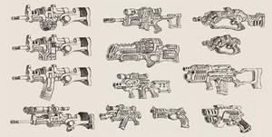 'Alien Earth' Weapons by MattRIllustration