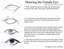 How to Draw: Female Eye by vanmaniac