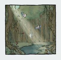 Birds In Flight by LaraBerge