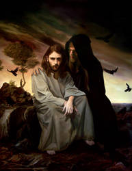 The Temptation of Christ by armusik