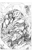 Planet Hulk Pencil by aaronlopresti