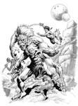 John Carter and the White Ape by aaronlopresti