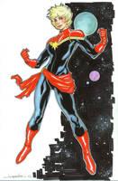 New Captain Marvel by aaronlopresti