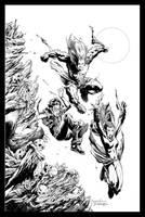 Excalibur #10 Cover by aaronlopresti