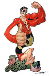 Plastic Man and Woozy Winks by aaronlopresti