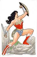 Wonder Woman NYCC 2018 Commission by aaronlopresti