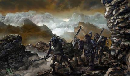 The Patrol Of Mordor Orks by yoggurt