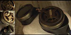 Steampunk Gear Goggles by hrekkjavakaastarkort