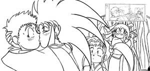 Tenchi: Deleted scene lineart by Alvah-and-Friends