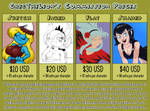 Commission menu by Alvah-and-Friends