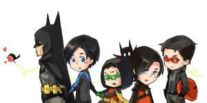Robins of Batman by vvvviola