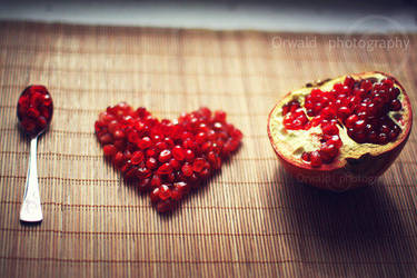 I love pomegranates by Orwald