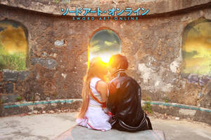 Asuna and Kirito in Sword Art Online by multipack223