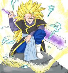 Goku black Ssj3 colored by Blade-Echidna