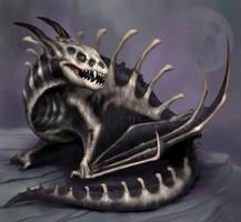 Smaugust day 25 - Bone Dragon by BrittMartin
