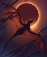 Smaugust 29 - Dragon in Flight - Dragon Eclipse II by BrittMartin