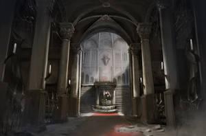 demon's castle-entrance hall by puyoakira
