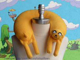 Jake the Dog from Adventure Time Travel Pillow by Justenjoyinglife