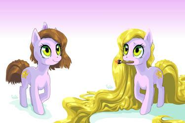 Pony Rapunzel by Raiilynezz