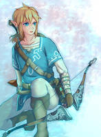 Legend of Zelda: Breath of the Wild - Link by Kibbou