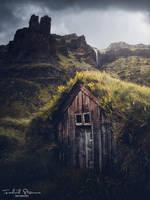Icelandic turfhouse by streamweb