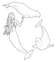Beluga Mermaid by ReQuay
